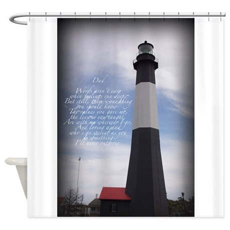 DAD Lighthouse Shower Curtain By 7577