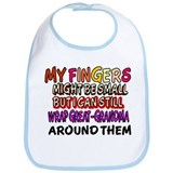 FINGERS WRAP GREAT-GRANDMA Bib