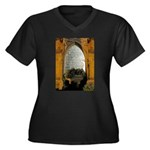 ighted Arch Christ Church Women's Plus Size V-Neck