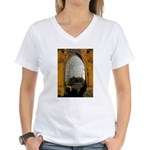 ighted Arch Christ Church Women's V-Neck T-Shirt