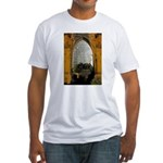 ighted Arch Christ Church Fitted T-Shirt