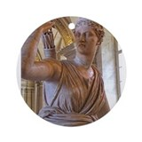 Artemis at the Louvre Ornament (Round)