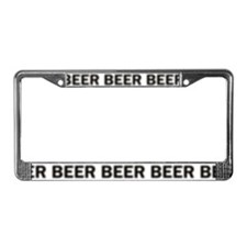 Blurry Beer License Plate Frame