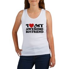 I Love My Awesome Boyfriend Women's Tank Top
