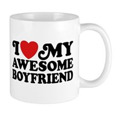 I Love My Awesome Boyfriend Mug