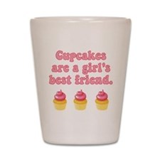 Best Friend Cupcakes Shot Glass