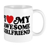 I Love My Awesome Girlfriend Small Mugs