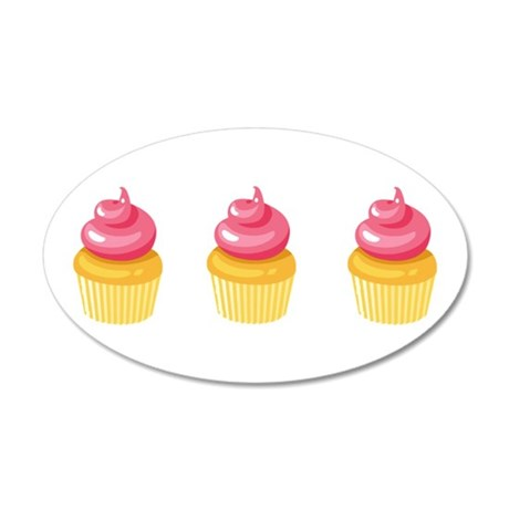 Best Friend Cupcakes 20x12 Oval Wall Decal
