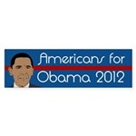 Americans for Obama 2012 bumper sticker