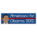 Americans for Obama 2012 bumper sticker