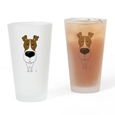 Big Nose Fox Terrier Drinking Glass