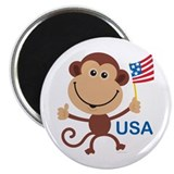 "USA Monkey: 2.25"" Magnet (10 pack)"