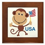 USA Monkey: Framed Tile