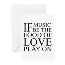 Music-Food-Love Quote Greeting Cards (Pk of 20)