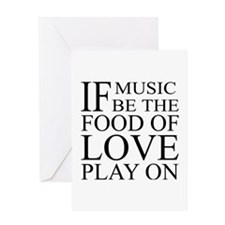 Music-Food-Love Quote Greeting Card