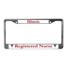 Illinois Registered Nurse License Plate Frame