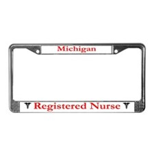 Michigan Registered Nurse License Plate Frame