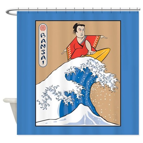 Funny Bansai Shower Curtain