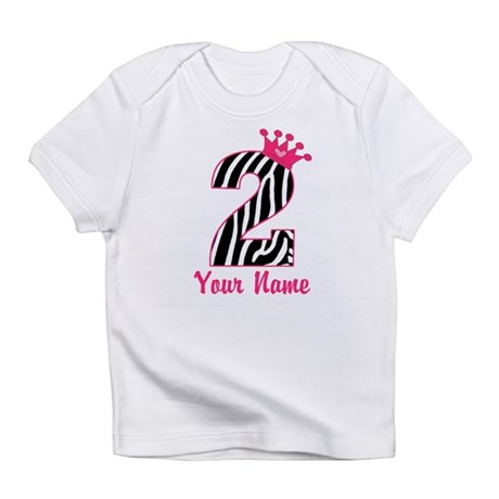 2nd Birthday Zebra Print Infant T-Shirt