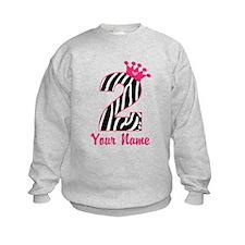 2nd Birthday Zebra Print Sweatshirt