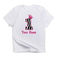 1st Birthday Zebra Infant T-Shirt