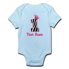 1st Birthday Zebra Infant Bodysuit