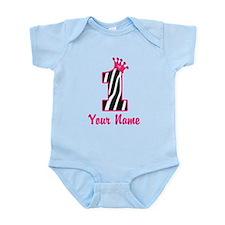 1st Birthday Zebra Onesie