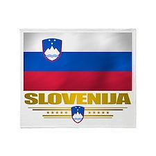 """Slovenia Flag"" Throw Blanket"