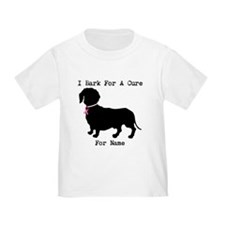 Dachshund Personalizable I Bark For A Cure T