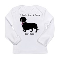 Dachshund Personalizable I Bark For A Cure Long Sl
