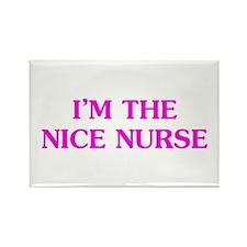 Pink Nice Nurse Rectangle Magnet