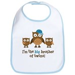 Big Brother of Twins - Mod Owl Bib