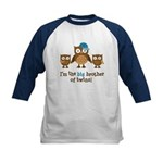 Big Brother of Twins - Mod Owl Kids Baseball Jerse