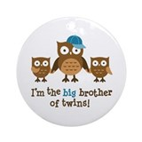 Big brother owl Round Ornaments