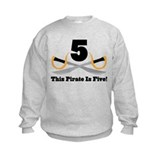 Pirate 5th Birthday Gift  Sweatshirt