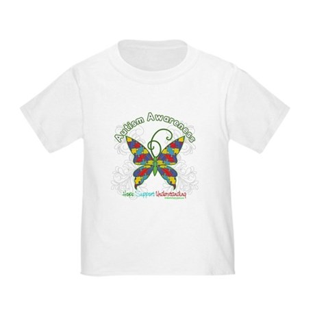 Autism Awareness Hope Butterfly Toddler T-Shirt