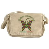 Autism Awareness Hope Butterfly Messenger Bag
