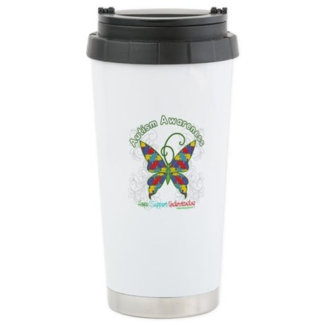 Autism Awareness Hope Butterfly Ceramic Travel Mug