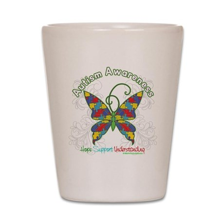 Autism Awareness Hope Butterfly Shot Glass