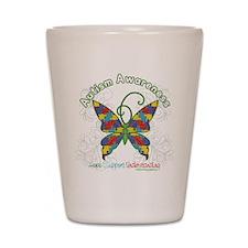 Autism Awareness Hope Butterfly Shot Glass
