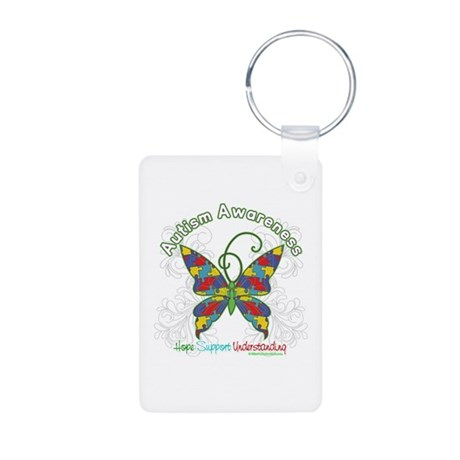 Autism Awareness Hope Butterfly Aluminum Photo Key