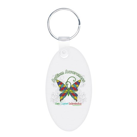 Autism Awareness Hope Butterfly Aluminum Oval Keyc