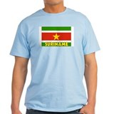 Suriname Flag Ash Grey T-Shirt