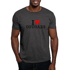 I Love Heart Cougars funny T-Shirt tee