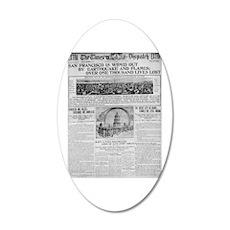 1906 San Francisco Earthquake 22x14 Oval Wall Peel