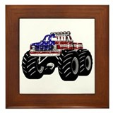 AMERICAN MONSTER TRUCK Framed Tile