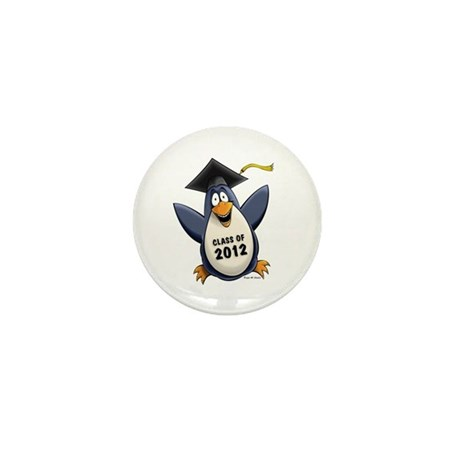2012 Graduate Penguin Mini Button (100 pack)