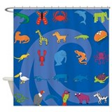 Wave Hound Zoo Shower Curtain