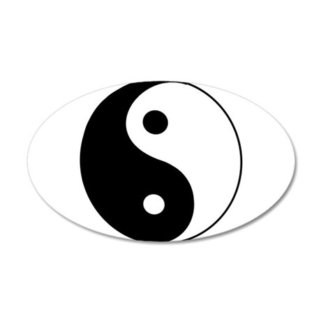 YinYang 38.5 x 24.5 Oval Wall Peel