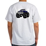 BLUE MONSTER TRUCK Ash Grey T-Shirt